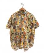 stussy()の古着「[OLD]80'sペイント柄ヴィンテージシャツ」|オリーブ