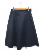 COMME des GARCONS COMME des GARCONS()の古着「[OLD]製品染めカットオフポリジャージースカート」|ネイビー
