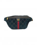GUCCI()の古着「GGベルベット ベルトバッグ」|グリーン