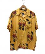 CALEE(キャリー)の古着「半袖レーヨンハワイアンシャツ / アロハシャツ」|イエロー