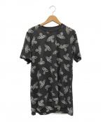 Vivienne Westwood ANGLOMANIA(ヴィヴィアンウエストウッド アングロマニア)の古着「シアーオーブモノグラムTシャツ」|グレー
