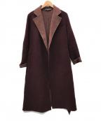 RALPH LAUREN(ラルフローレン)の古着「ウールガウンコート」 ボルドー