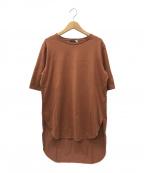 ATON(エイトン)の古着「SUVIN 60/2 ラウンドヘムTシャツ」 ブラウン