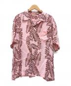 Sun Surf(サンサーフ)の古着「アロハシャツ」|ピンク