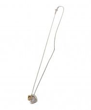 TIFFANY & Co. (ティファニー) ダブルオープンハートネックレス SILVER925・K18PGコンビ