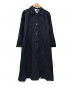 HERNO(ヘルノ)の古着「ステンカラーコート」 ネイビー