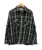 LEVI'S()の古着「[古着]アラスカチェックネルシャツ」 グリーン