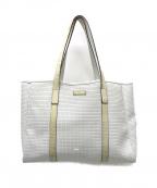 serapian(セラピアン)の古着「PVC型押しトートバッグ」 ホワイト
