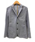 ()の古着「ストライプテーラードジャケット」|ブルー