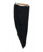 ()の古着「アシンメトリーシャーリングスカート」|ブラック