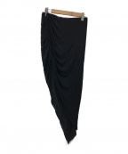 HELMUT LANG(ヘルムートラング)の古着「アシンメトリーシャーリングスカート」 ブラック