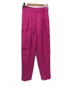 ()の古着「カラーリネンタックパンツ」 ピンク