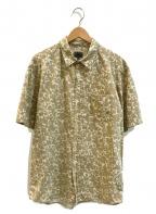 stussy(ステューシー)の古着「[古着]リーフカモフラージュシャツ」 ベージュ