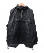 POLO SPORT(ポロスポーツ)の古着「[古着]コーティングアノラックジャケット」 ブラック