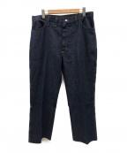Wrangler(ラングラー)の古着「[古着]70'sブーツカットライトオンスデニムパンツ」 インディゴ