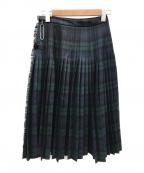 O'NEIL OF DUBLIN(オニールオブダブリン)の古着「キルトラッププリーツスカート」 グリーン