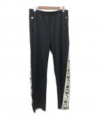 YAMANE(ヤマネ)の古着「カモメ刺繍トラックパンツ」|ブラック