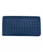 BOTTEGA VENETA()の古着「2つ折り長財布」 ブルー