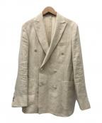 BOGLIOLI()の古着「リネンダブルブレストジャケット」|ベージュ