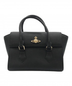 Vivienne Westwood(ヴィヴィアンウエストウッド)の古着「フラップオーブハンドバッグ」|ブラック