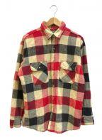 LEVI'S()の古着「[古着]アラスカヘビーチェックネルシャツ」 レッド