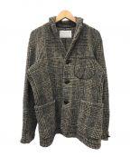 KOLOR()の古着「スーパーストレッチツイードジャケット」|ブラウン