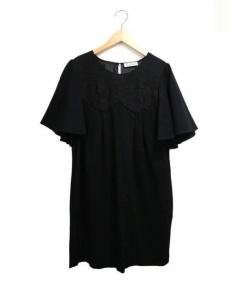 FLICKA(フリッカ)の古着「ブラウスワンピース」 ブラック