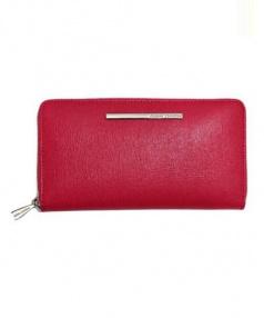 GIANNI CHIARINI(ジャンニ キャリーニ)の古着「ラウンドファスナーレザーウォレット 長財布」 ピンク