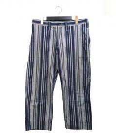 ts(s)(ティーエスエス)の古着「Cropped Work Pants クロップドパンツ」|ネイビー