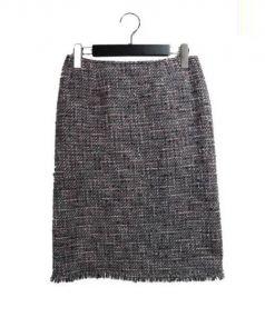 Rene(ルネ)の古着「ツイードスカート」|グレー×ピンク