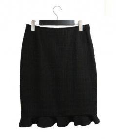 Rene(ルネ)の古着「ツイードスカート」|ブラウン