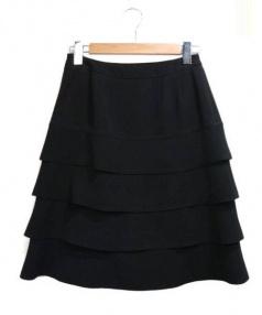 Rene(ルネ)の古着「ティアードスカート」|ブラック