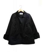 courreges(クレージュ)の古着「ラビットファー付ショートコート」|ブラック