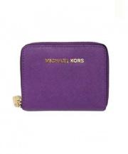 MICHAEL KORS(マイケルコース)の古着「ラウンドファスナー財布」|パープル