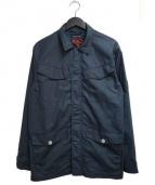 NIGEL CABOURN × K100(ナイジェルケーボン × ケーハンドレット)の古着「K100・ジップスルーコート」|ネイビー