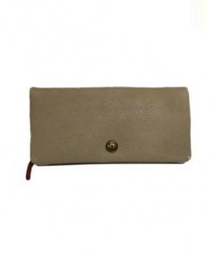 CLEDRAN(クレドラン)の古着「2ピース長財布」 ベージュ