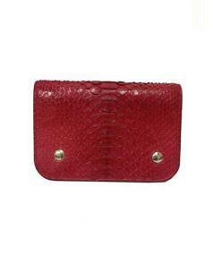 J&M DAVIDSON(ジェイ&エム デヴィッドソン)の古着「パイソンレザー2つ折り財布」|ピンク