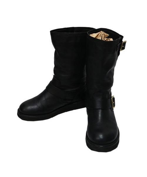 061192fa02fb 中古・古着通販】COACH (コーチ) レザーブーツ ブラック サイズ:6 A7157 ...