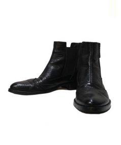 EMPORIO ARMANI(エンポリオアルマーニ)の古着「サイドゴアブーツ」|ブラック
