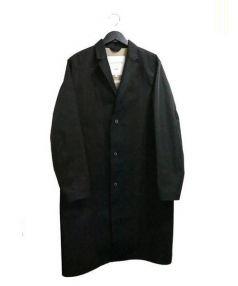 MACKINTOSH×HYKE(マッキントッシュ×ハイク)の古着「ゴム引きチェスターコート」|ブラック