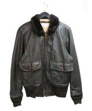 COOPER(クーパー)の古着「G-1レザージャケット」|ブラウン