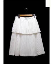 CLEDRAN(クレドラン)の古着「プリーツスカート」|ホワイト