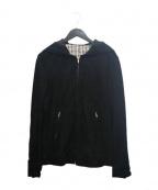 recency of mine(リーセンシィ オブ マイン)の古着「ゴートスウェードフーテッドジャケット」 ブラック