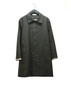HANCOCK(ハンコック)の古着「ゴム引きコート」|オリーブ
