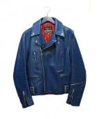 666(シックスシックスシックス)の古着「ライダースジャケット」|ブルー