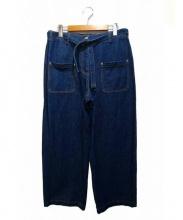 DRIES VAN NOTEN(ドリスヴァンノッテン)の古着「デニムワイドパンツ」|ブルー