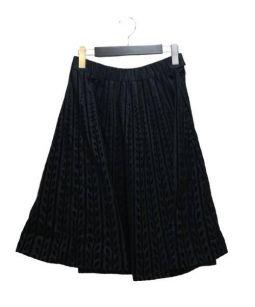 MARNI(マルニ)の古着「フロッキープリントスカート」 ブラック