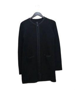 JOSEPH(ジョゼフ)の古着「ジップニットコート」 ブラック