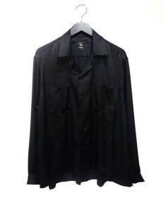 bukht(ブフト)の古着「サテンオープンカラーシャツ」|ブラック