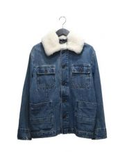 LY ADAMS(リアダムス)の古着「ボアデニムジャケット」|ブルー